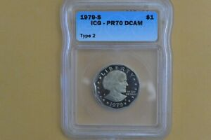 1979-S  Susan B Anthony Dollar ICG PR70 DCAM Type 2