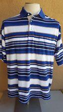 CHRISTIAN DIOR Monsieur Men's Multi-color Stripes Ctn Bld Polo-Rugby LS Shirt L