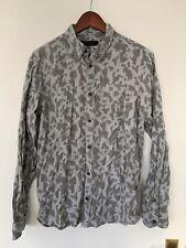 All Saints Leopard Print Montaud Shirt Medium