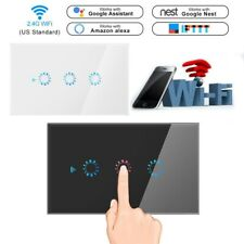 1/2/3 Gang WiFi Smart Home Touch Light Wall Switch Panel for Alexa/Google APP US