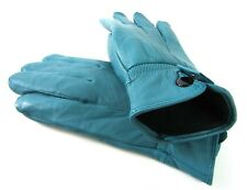Ladies Super Soft Real Leather Fully Lined Gloves Various Colours Winter Jade S