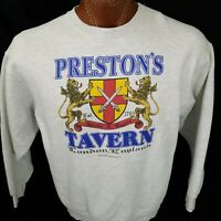 Vintage 1981 Preston's Tavern London England Gray Sweatshirt Made in USA L