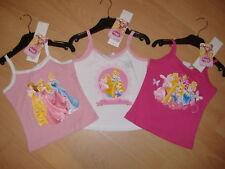 Girls Disney Princess Strap Top T Shirt Pink White Ages 2 3 4 5 6 3-4 Years Dark Pink