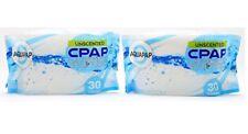 AQUAPAP CPAP Clean Wipes Unscented 2-Pack (60 Wipes Total) Fresh Pack Travel EZ