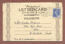 Colchester Lettercard 1950 William Wilkinson 39 Port Lane Mabel Chapman   RK988