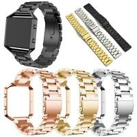 For Fitbit Blaze Tracker Stainless Steel Metal Strap Watch Band &Frame Wristband