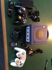 Complete Nintendo GameCube Indigo Purple Console System W/ All Hook Ups Control