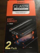 iPhone XR Spigen Glass TR EZ Fit Slim TEMPERED GLASS Screen Protector 2 PACK