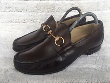 Vintage Gucci 1100009  Horsebit Brown Men's Loafers Size UK 8 USA 7
