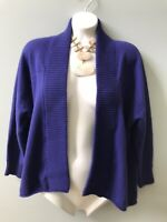CHICO'S Women's Size 1 Purple Cardigan Sweater Open Front Knit