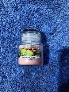 Wickford & Co 5oz Pink Rhubarb & pear mini jar Candle - FREE POSTAGE