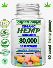 HEMP GUMMY BEARS HELP PAIN STRESS & ANXIETY,  HEMP OIL 60 COUNT 30,000 MG..