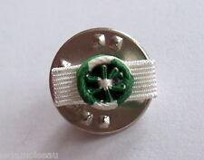Rosette pin's médaille communale, départementale et régionale, diamètre: 5 mm.
