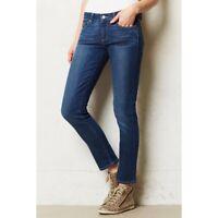 PAIGE $189 Skyline Ankle Cropped Peg Leg Skinny Jeans in Mila Size 29