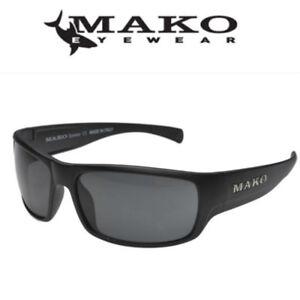 Mako ESCAPE Grey Glass Mirror Sunglasses Fishing Polarised 9581 MO1 GOHR