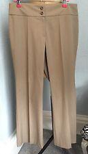 NUOVO senza Etichetta M&S PORTAFOGLIO NEUTRO BEIGE Smart Pantaloni UK12 Corto W32 L28