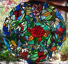 AUSTRALIAN NATIVE FLORA Stained Glass PANEL Window Skylight Entranceway FLOWERS