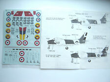 "CL-13B SABRE ""3 ITALIAN/RCAF/COLUMBIAN"" MICROSCALE DECALS 1/48"