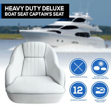 Premium Bucket Boat Seat Marine All Weather White Captain Seat White
