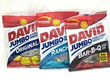 David Jumbo BAR-B-Q Ranch & Original Sunflower Seeds Lot 3 BBQ Barbeque
