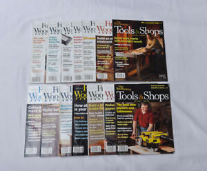 12 issues Tauton's Fine Wood Working Magazine 2006/2007 + Tools & Shops