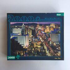 """2000 Piece Buffalo Games Jigsaw Puzzle 🧩 """"Vegas Baby!"""" Las Vegas Strip Casinos"""