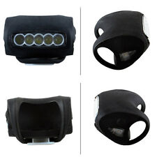 Black Hot Sale Bike Bicycle Cycling 7 LED Silicone Safety Warning Head Light