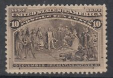 "USA MIINT NG Scott #237  10 cent black brown ""Columbian Exposition""  F"