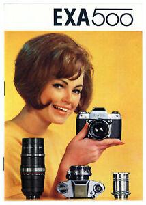 IHAGEE Prospekt EXA 500 Kamera Zubehör Broschüre von 1967 Reklame (Y850