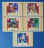 Set of 5 PHQ Stamp Postcard Set No.145 Gilbert and Sullivan Operas 1992 BV5
