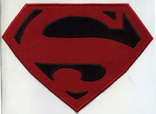 """6.5""""x8"""" CHILD Size Embroidered Superman / Superboy Red & Black Patch"""