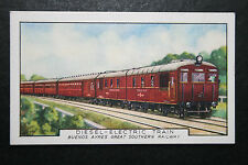 Buenos Aires Great Southern Railway   Deisel Train  Vintage Card # VGC