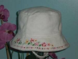 Gap Embroidered Floral Terry Sun Hat Up to 6 Months NWT