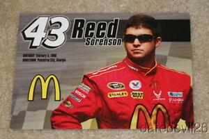 2009 Reed Sorenson McDonald's Dodge Charger NASCAR postcard