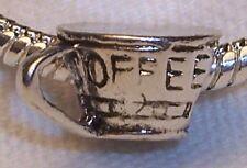 Coffee Cup Mug Kitchen Drink Nickel Free Bead for Silver European Charm Bracelet