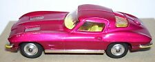 RARE CORGI TOYS CHEVROLET CORVETTE PHARES ESCAMOTABLES ROUGE METAL REF 310 1963
