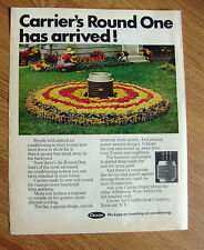 1970 Carrier Air Conditioner Ad Carrier's Round One has Arrived