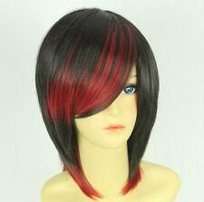 Harajuku Neu Mode Rot Schwarz Cosplay Party Perücken Wig