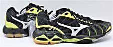 Mizuno Wave Tornado X Low Women Volleyball Shoes Sz 7.5 Black & Neon Yellow NEW