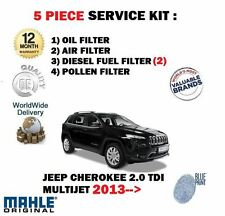 FOR JEEP CHEROKEE 2.0DT MULTIJET 2013-> OIL AIR FUEL POLLEN 5 FILTER SERVICE KIT