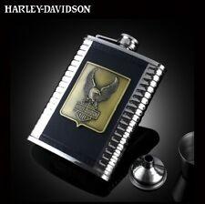 Harley Davidson,8 oz stainless steel hip flask,Hip Liquor Whiskey Alcohol Pocket