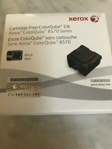 Xerox 108R00930 - Box of 4  - BLACK ColorQube ink for 8570 Series - GENUINE