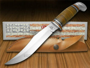 "Case xx Fixed Blade 6"" Skinner Hunter Knife Polished Leather 00386"