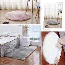 Fluffy Plain Sheepskin Rug Soft Faux Fur Shaggy Area Rug Thick Wool Carpet Sofa