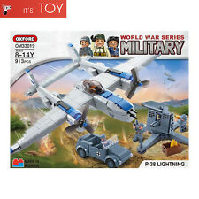 Oxford Block P-38 LIGHTNING OM33019 World War Series Military Brick Building Toy