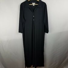 Avenue Womens Plus Size 18/20 Dress Black Button Up Collared