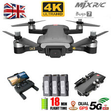MJX Bugs 7 B7 RC Drone Quadcopter Camera Wifi FPV HD 4K 3 Batteries Foldable UK