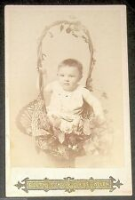 Baby Infant in Basket Portrait CDV LUTHI SOHN St. Gallen