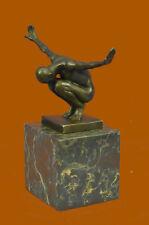 Signed Original Miguel Lopez (Milo) The Athlete Bronze Sculpture Figurine Figure