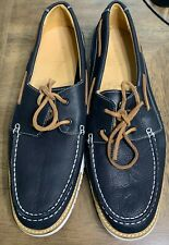 Cole Haan Boat Shoe Navy Blue Leather Sz 13